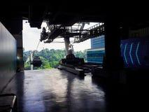 SINGAPORE 12 SEPTEMBER 2017, Singapore kabelbil till Sentosa Royaltyfri Bild