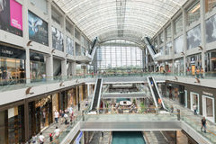 Marina Bay Sands luxury shopping center Royalty Free Stock Images