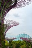 OCBC Skyway and Cloud Dome at Gardens by the Bay stock photography