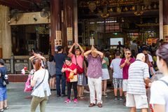 Historical Chinese Temple in Singapore stock photos