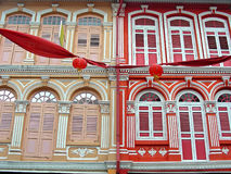 Singapore Shop Houses Royalty Free Stock Photos