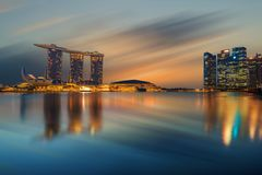 Singapore sikt av Marina Bay sander Royaltyfria Bilder