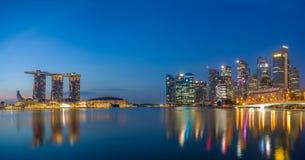 Singapore sikt av Marina Bay sander Fotografering för Bildbyråer