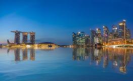 Singapore sikt av Marina Bay sander Arkivbild