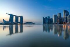 Singapore sikt av Marina Bay sander Arkivfoto