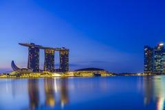 Singapore sikt av Marina Bay sander Royaltyfri Foto