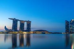 Singapore sikt av Marina Bay sander Royaltyfria Foton