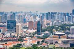 Singapore, Singapore - April 22, 2019: Apartment and office buildings. Skyline royalty free stock photos