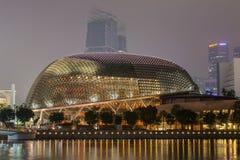 SINGAPORE, SINGAPORE - CIRCA SEPTEMBER 2015: Durian-shaped theatre building at Esplanade,  Singapore Stock Photo