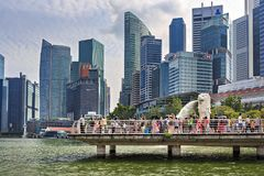 Marina Bay view Royalty Free Stock Images