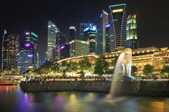 Marina Bay view Stock Photography
