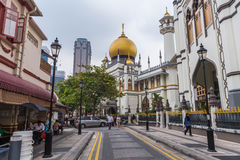 Singapore, Singapore - circa September 2015: Sultan Mosque in  Singapore Royalty Free Stock Photography
