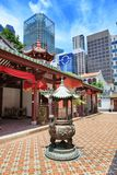 Buddha Tooth Relic Temple of Singapore. SINGAPORE, SINGAPORE - CIRCA SEPTEMBER, 2017: The Thian Hock Keng Temple of Singapore royalty free stock images