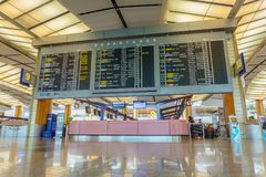 Singapore, Singapore - January 29, 2018 : Inside of Changi Airpo royalty free stock images