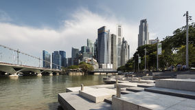 Singapore, Singapore - July 16, 2016: Central Business District and Singapore River Royalty Free Stock Images