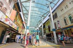 Singapore, Singapore - 20 settembre 2014: Stazione della metropolitana in Chin Fotografie Stock Libere da Diritti
