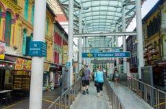 Singapore, Singapore - 20 settembre 2014: Stazione della metropolitana in Chin Immagini Stock