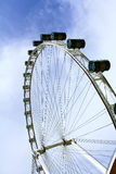 Singapore sky flyer. Part of Singapore Flyer - the Largest Ferris Wheel in the World Royalty Free Stock Images