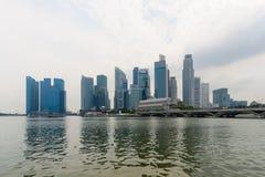 Singapore skycrapers Royaltyfri Bild