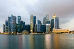 Singapore skycrapers Arkivbild