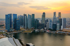 Singapore skycrapers Royalty Free Stock Photography