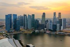 Singapore skycrapers Royaltyfri Fotografi