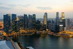 Singapore skycrapers Royaltyfri Foto