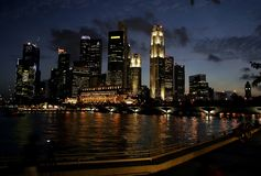 singapore skyline Στοκ Εικόνες
