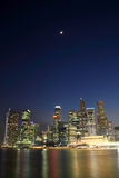 Singapore skyline. Singapore City Evening Skyline of Business District Stock Image