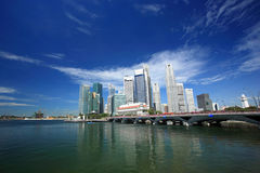 Singapore Skyline. Singapore business district Royalty Free Stock Photo