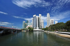 Singapore Skyline. Singapore business district Royalty Free Stock Photography
