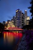 singapore skyline Στοκ εικόνα με δικαίωμα ελεύθερης χρήσης