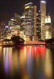 singapore skyline Στοκ Φωτογραφίες