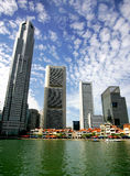 Singapore Skyline. Across the water on sunny day Royalty Free Stock Photos
