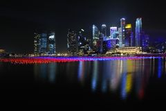 The Singapore skyline Stock Photography