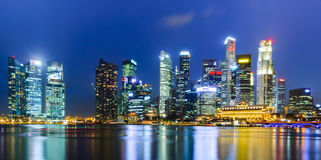 Singapore Skyline. The Singapore skyline and beautiful building in twilight Stock Images