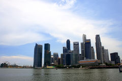 Singapore skyline. With a bright Sky and clouds Royalty Free Stock Photography