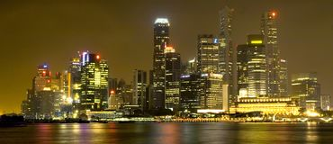 Free Singapore Skyline Royalty Free Stock Photo - 557785