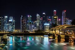Singapore skyline Royalty Free Stock Photos