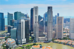 Singapore skyline. In the aerial view Royalty Free Stock Photos