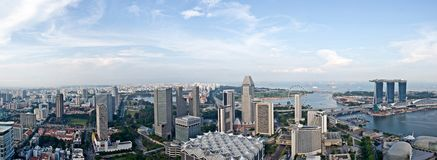 Singapore skyline in another viewpoint Royalty Free Stock Image