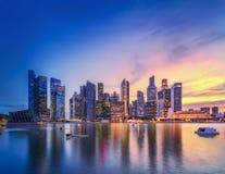 Singapore skyline background Stock Photo