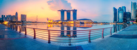 Singapore skyline background Royalty Free Stock Image