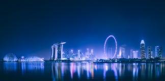 Singapore skyline background Stock Images