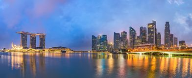 Singapore skyline at the bay royalty free stock image