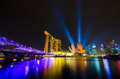 Singapore skyline. Beautiful singapore skyline at night Stock Image