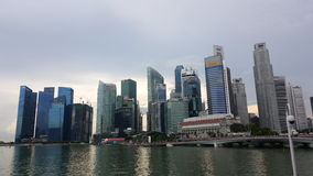 Singapore skyline. Singapore buildings and skyline. View of Singapore river Stock Images