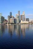 Singapore Skyline,Business Center. Singapore Skyline in morning light,view from Marina Bay stock images