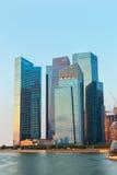 Singapore skyline of business district. Stock Photo