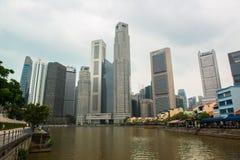 Singapore skyline of business district Stock Photo